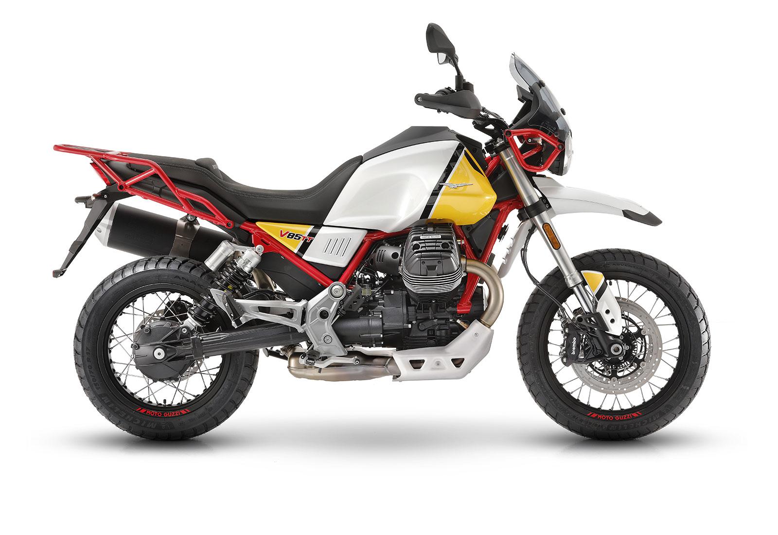 moto guzzi V85 TT gialla